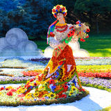 Flower exhibition in Kiev, dedicated to unity and peace in Ukraine Royalty Free Stock Photos