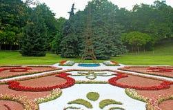 Flower exhibition at Spivoche Pole in Kyiv, Ukraine Stock Photo