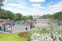 Flower exhibition at Spivoche Pole in Kyiv, Ukraine Stock Photography