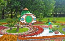 Flower exhibition at Spivoche Pole in Kyiv, Ukraine Stock Photos