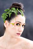 Flower eye makeup Stock Photo