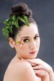 Flower eye makeup Stock Photo