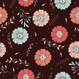 Flower eye. pattern. creep garden. Stock Photo