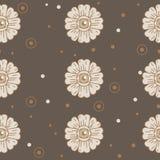 Flower eye. pattern. creep garden. Royalty Free Stock Photos