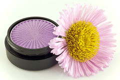 Flower and eyeshadow Stock Photos