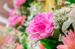 Flower of the fabric, floral background Stock Photos