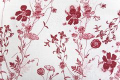 Flower Fabric Texture Stock Image