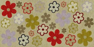 Flower fabric texture Royalty Free Stock Images