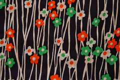Flower fabric texture Royalty Free Stock Photos