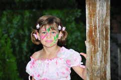 Flower face painting Stock Photos