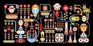 Flower Factory vector illustration Stock Image