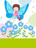Flower fairy. Cute flower fairy - Art  Illustration Stock Image