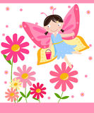 Flower fairy. Cute flower fairy - Art  Illustration Stock Photo