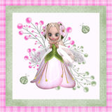 Flower Fairy. This pretty flower fairy with ladybugs is a cute design for your printing and web design projects Stock Images