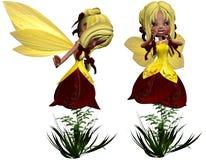 Flower Fairy. 3d render of flower Fairy Stock Images