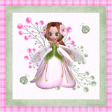 Flower Fairy 2. This red headed flower fairy with ladybugs is a pretty design for your web design projects and printing projects Stock Photo