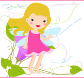 Flower fairy. Illustration of a cute flower fairy Royalty Free Stock Photography
