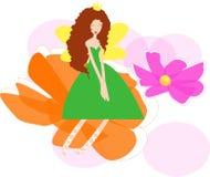Flower fairy. Cute of flower fairy,cartoon Stock Photo