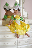 Flower fairy. A two year old girl dressed as a flower fairy for halloween Royalty Free Stock Photo