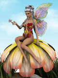 Flower fairy royalty free illustration