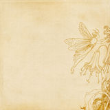 Flower fairy background. For scrapbooking, craft or graphic design Stock Photos