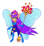 Flower fairy. Brightly colored flower fairy on the white background Royalty Free Stock Images