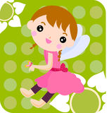 Flower fairy and butterfly Stock Photography