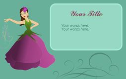 Flower Fairy on Card Royalty Free Stock Photo