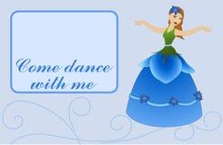 Flower Fairy on Card - Blue Stock Photography
