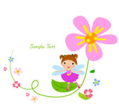 Flower fairy and flower Stock Image