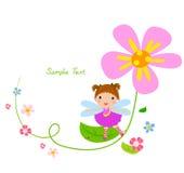 Flower fairy and flower. Illustration Stock Image