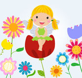 Flower fairy. Illustration of cartoon flower fairy Stock Photos
