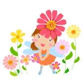 Flower fairy. Illustration of a cute flower fairy Stock Photo