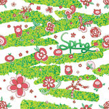Flower fairy leaf road seamless pattern Royalty Free Stock Images