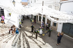 Flower festival in Campo Maior, Portugal stock photo