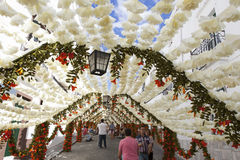 Flower festival in Campo Maior, Portugal Stock Photos