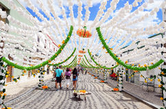 Flower Festival (festas do povo, Campo Maior 2015, Portugal) Royalty Free Stock Photo