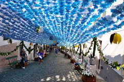 Flower Festival (festas do povo, Campo Maior 2015, Portugal) Stock Image