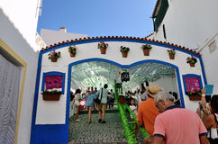 Flower Festival (festas do povo, Campo Maior 2015, Portugal). Flower Festival (festas do povo, Campo Maior 2015). Many streets of the historic centre are coated Stock Photo