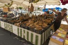 Flower Festival La Ciotat wood utensiles stall Stock Images