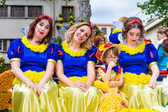 Flower Festival on the Madeira Island, Portugal. Royalty Free Stock Image