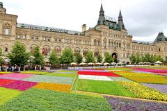 Flower Festival in Red Square in Moscow Stock Image