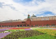 Flower Festival in Red Square. Moscow Royalty Free Stock Photo