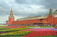 Flower Festival on Red Square Stock Image