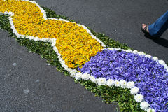 Flower festival. Religious festival in Madeira Island, Portugal Royalty Free Stock Image
