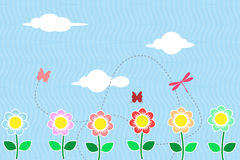Flower field background Royalty Free Stock Images