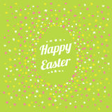 Happy easter happy spring card Stock Photo