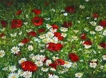 Flower fields Stock Photo