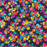 Flower five modern colorful leaf free seamless pattern Royalty Free Stock Photos