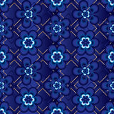 Flower five six japanese blue seamless pattern royalty free illustration